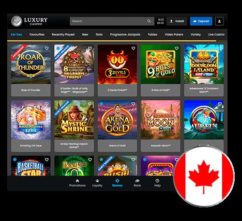 Luxury Casino list of the games