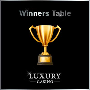 Winners Table at Luxury Casino